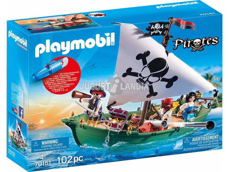 Playmobil Bateau Pirate avec Moteur Sous-marin 70151