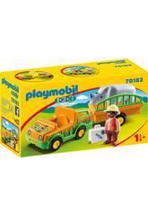 Playmobil 1,2,3 Zoo-Fahrzeug mit Nashorn von Playmobil 70182