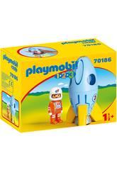 Playmobil 1,2,3 Astronaute avec Vaisseau Spatial Playmobil 70186