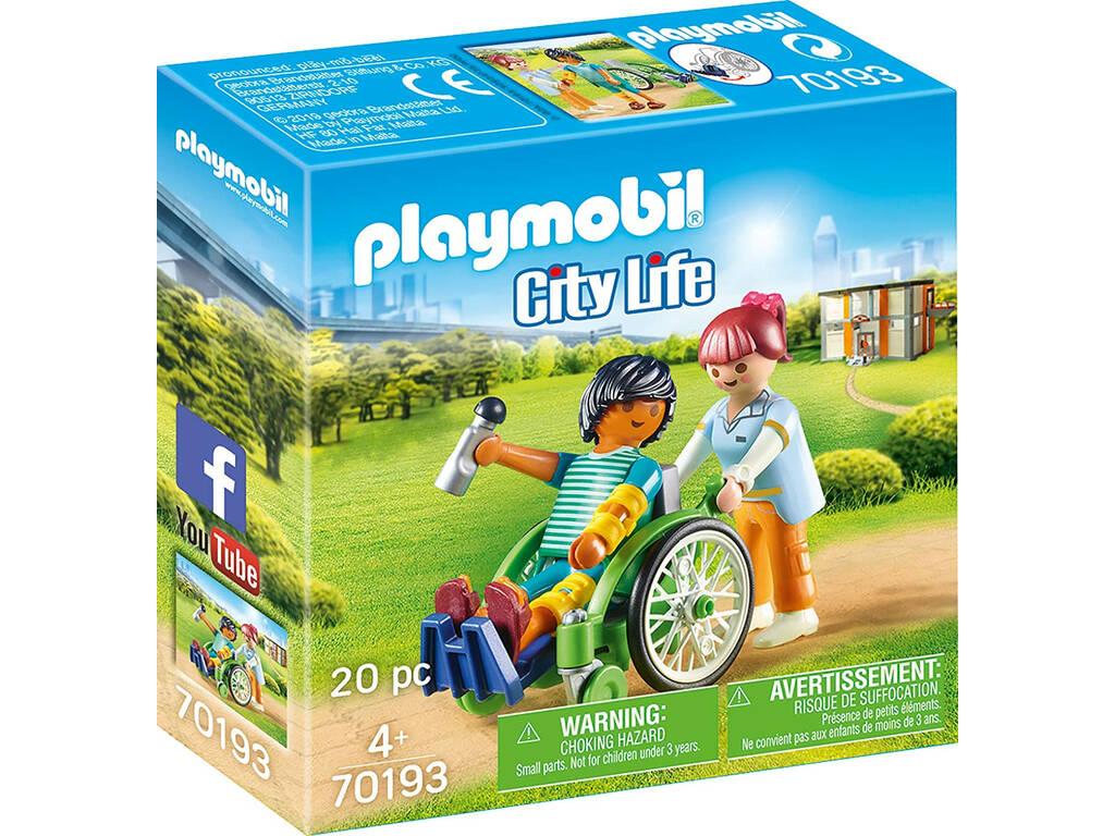 Playmobil Paciente en Silla de Ruedas 70193