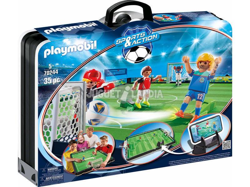 Playmobil Mallette Terrain de Football 70244