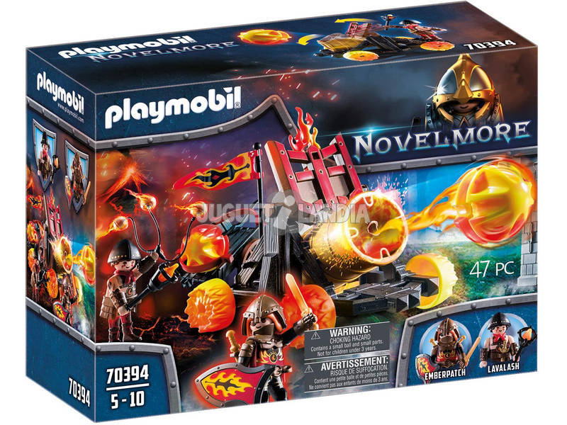 Playmobil Novelmore Catapulta de Lava de los Bandidos de Burnham 70394