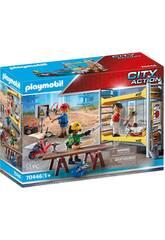 Playmobil Andamio con Obreros 70446