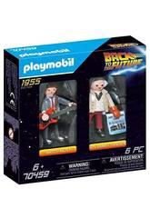 Playmobil Regreso al Futuro Marty McFly y Dr. Emmett Brown 70459