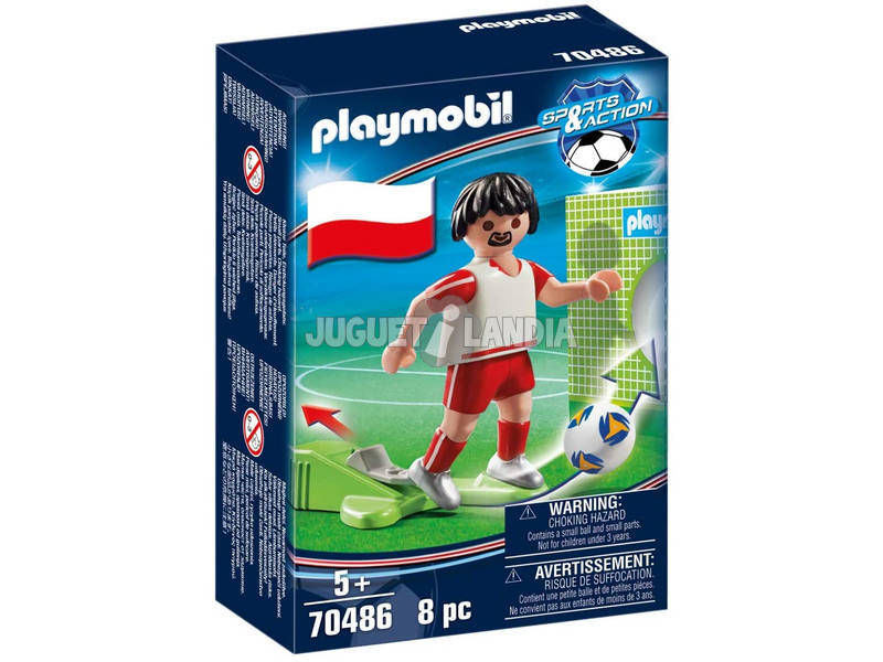 Playmobil Jugador de Fútbol Polonia 70486