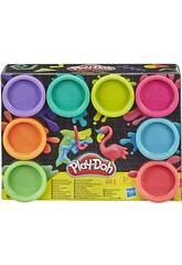 PlayDoh Pack 8 pots de Pates à Modeler Fluo Hasbro E5063