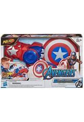 Avengers Nerf Power Moves Lanza Escudo Capitán América Hasbro E7375