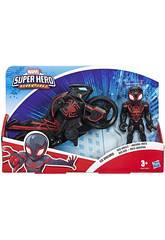 Marvel Super Hero Aventures Arachnid con Moto Hasbro E6261
