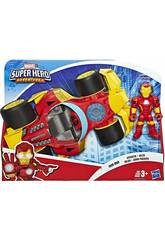 Avengers Super Hero Adventures Iron Man avec Bolide Hasbro E6257