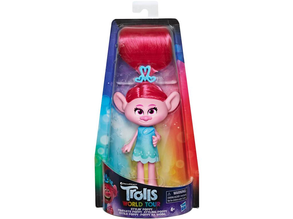 Trolls Poupée Fashion Stylin Poppy Hasbro E80225L00