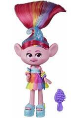 Trolls World Tour Bambola Poppy Glamour Rock