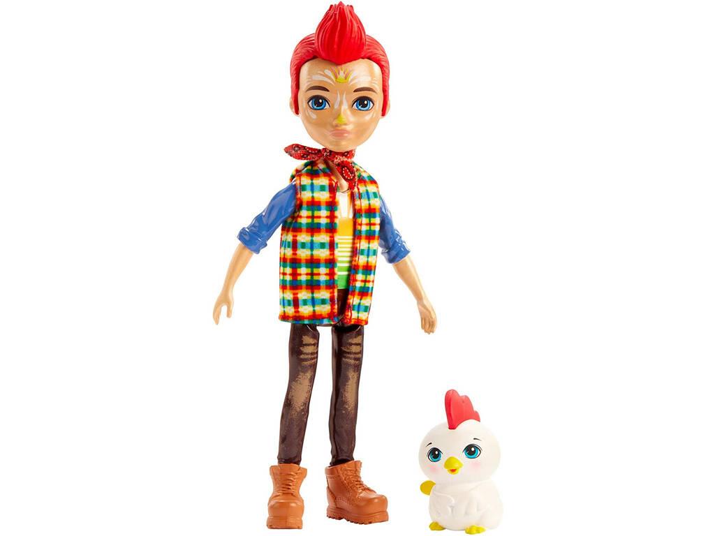 Enchantimals Muñeco Redward Rooster con Gallo Cluck Mattel GJX39