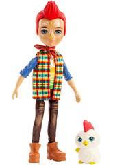 Enchantimals Poupée Redward Rooster avec Coq Cluck Mattel GJX39