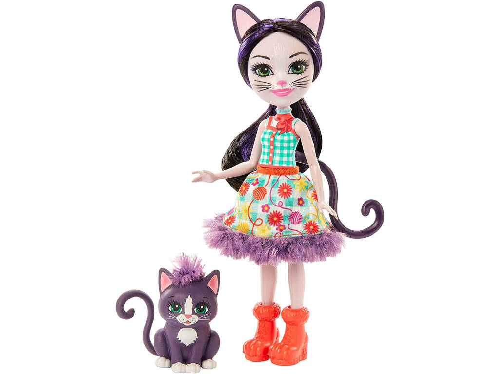 Enchantimals Muñeca Ciesta Cat con Gata Climber Mattel GJX40