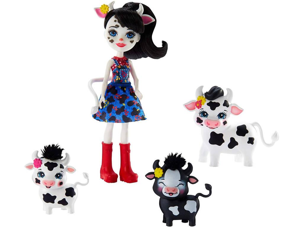 Enchantimals Muñeca Cambrie y Vaca Ricotta Mattel GJX44