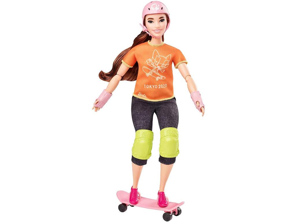 Barbie Olimpiadas Skateboarder Mattel GJL78