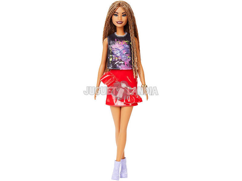 Barbie Fashionistas Rock And Red Mattel FXL56