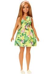 Barbie Fashionistas Gelb-Blumen Kleid Mattel FXL59