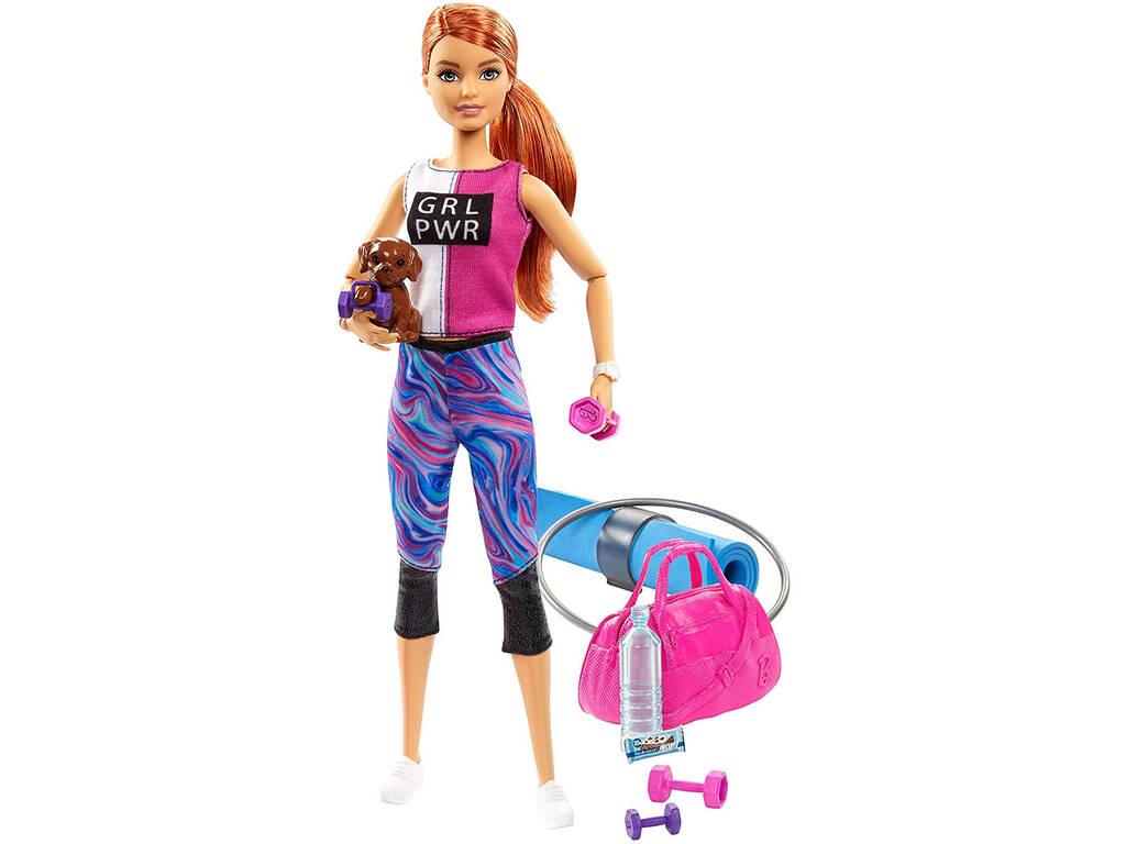 Barbie Bienestar Gimnasio con Perrito y Accesorios Mattel GJG57