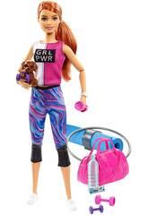 Barbie Bien-être Gymnase avec Petit Chien et Accessoires Mattel GJG57