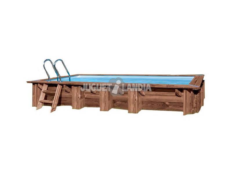 Piscine Rectangulaire en Bois Mango 618X320X130 cm. Gre KPBRC620