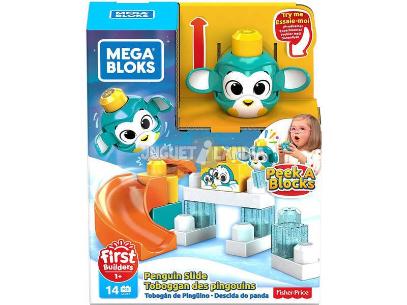 Mega Bloks Pingüino Lanza y Rueda De Peek a Block Mattel GKX67