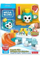 Mega Bloks Pingouin Lancez et Roulez De Peek a Block Mattel GKX67