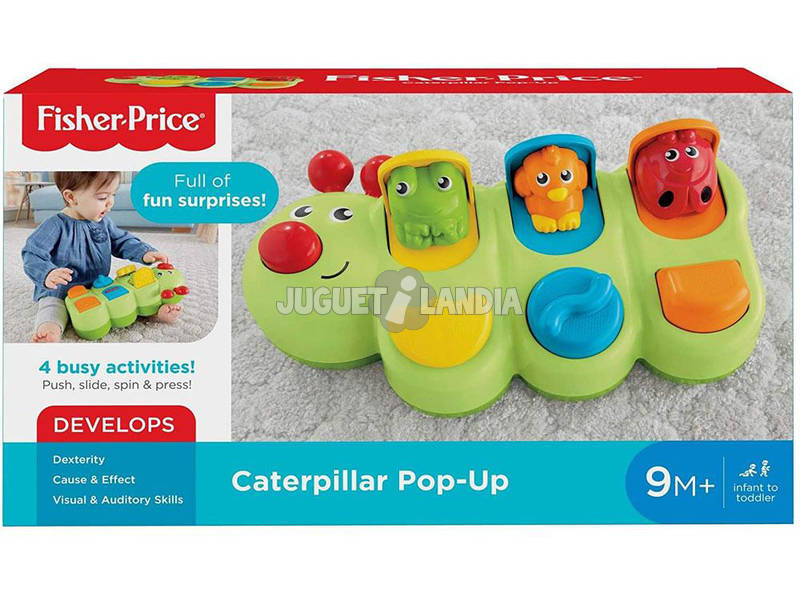 Fisher Price Gusanito Sorpresas Pop-Up Mattel GCM80