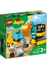 Lego Duplo Town Camion et Excavatrice à Chenilles 10931