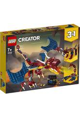 Lego Creator Drago Fiammeggiante 31102