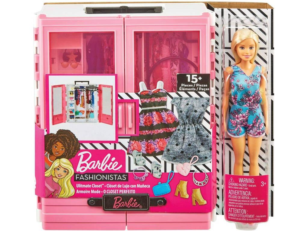Barbie Super Armario con Muñeca y Accesorios Mattel GBK12