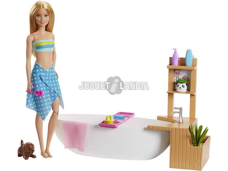 Barbie Baño con Burbujas Mattel GJN32