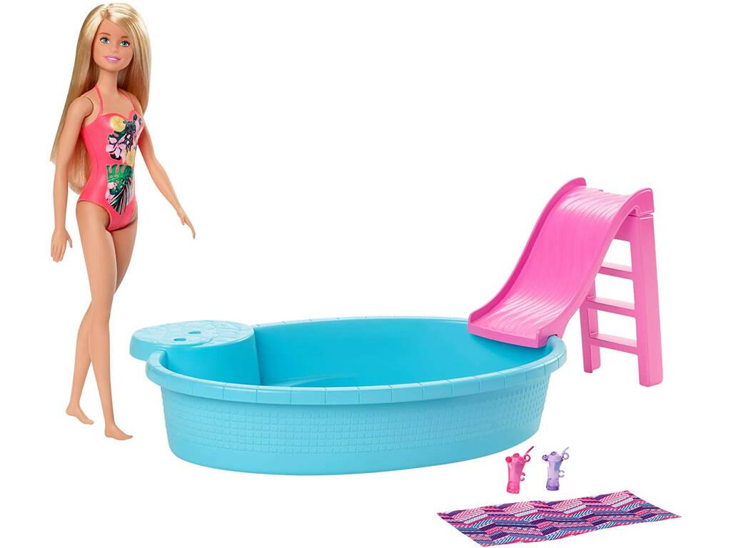 Barbie con Piscina Mattel GHL91