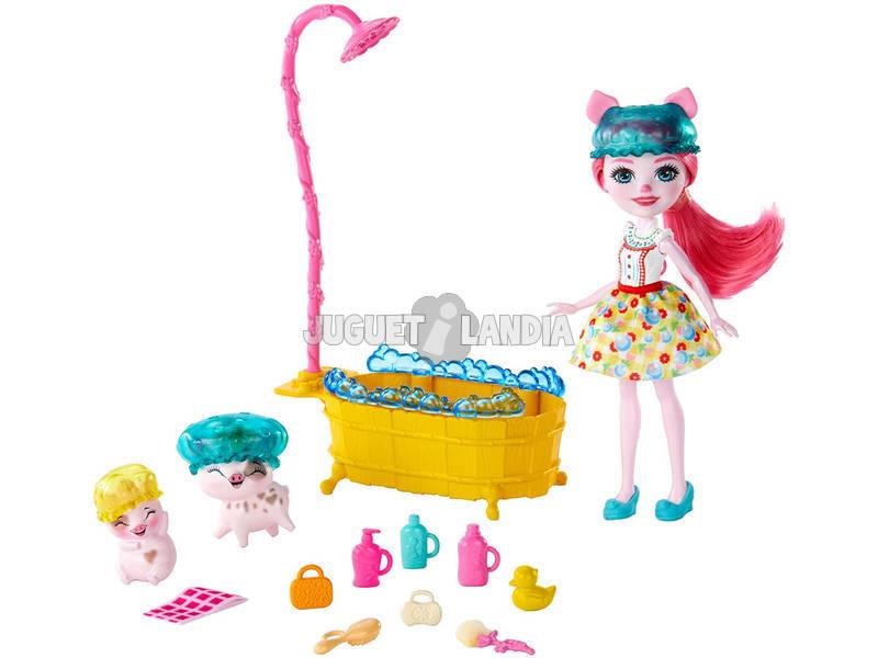 Enchantimals Juego de Baño Y Muñeca Peyta Mattel GJX36