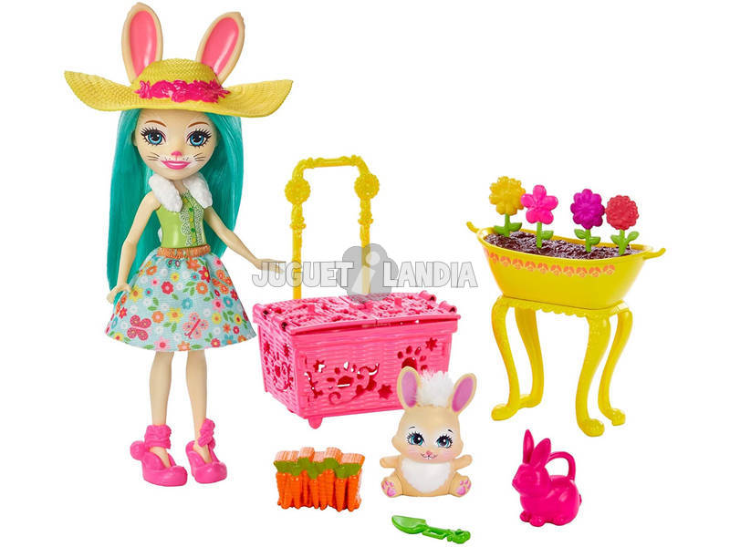 Enchantimals El Jardín de Fluffy Bunny Mattel GJX33