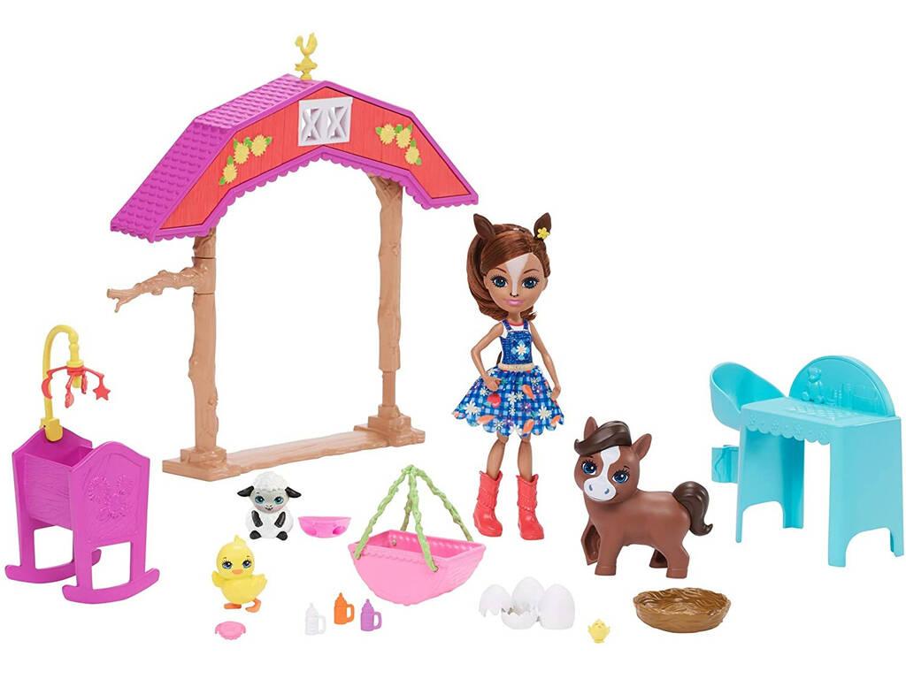 Enchantimals Establo con Muñeca Haydie Horse Mattel GJX23