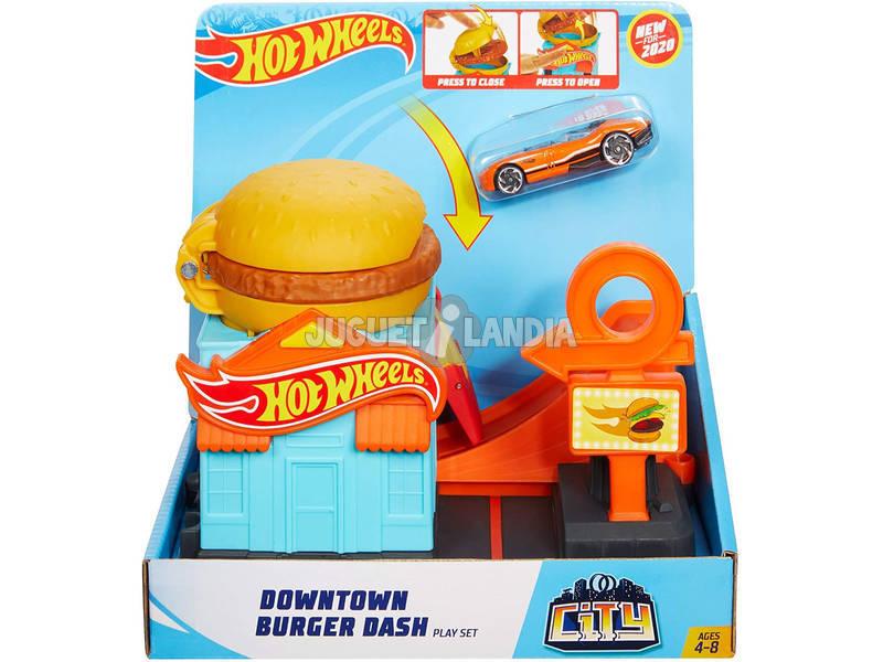 Hot Wheels City Downtown Hamburguesería Mattel GJK73