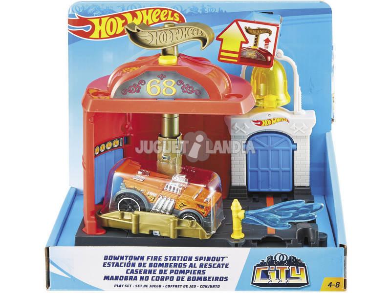 Hot Wheels City Downtown Estación de Bomberos Al Rescate Mattel FMY96