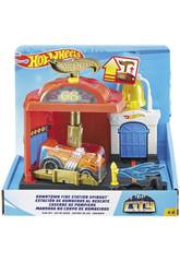 Hot Wheels City Downtown Caserne de Pompiers Au Secours Mattel FMY96
