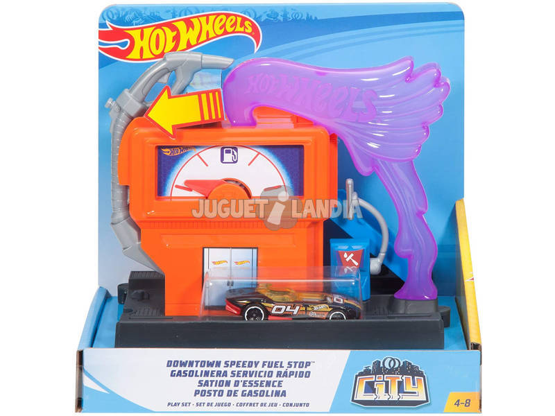 Hot Wheels City Downtown Gasolinera Mattel FMY97