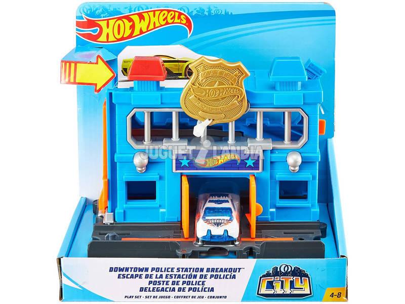 Hot Wheels City Downtown Comisaría de Policía Mattel FNB00