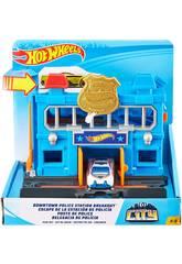 Hot Wheels City Downtown Esquadra da Polícia Mattel FNB00