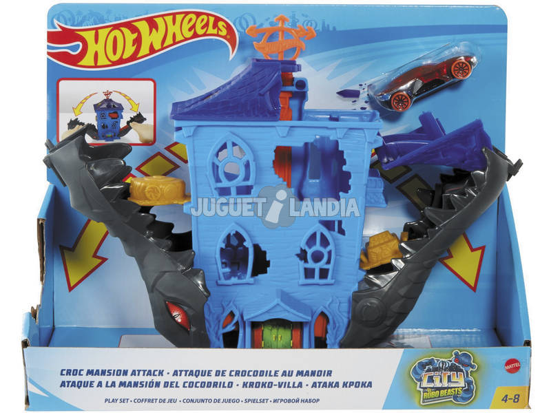 Hot Wheels City Ataque a la Mansión del Cocodrilo Mattel GJK91