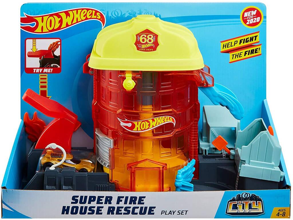 Hot Wheels City Súper Estación de Bomberos de Rescate Mattel GJL06
