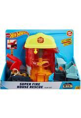 Hot Wheels City Super Stazione dei pompieri Rescue Mattel GJL06