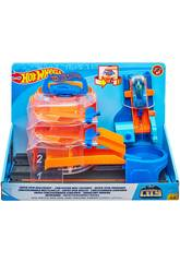 Hot Wheels City Súper Concesionario Giratorio Mattel GBF95