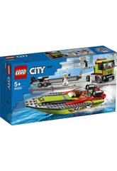Lego City Grandes Vehículos Transporte de la Lancha de Carreras 60254