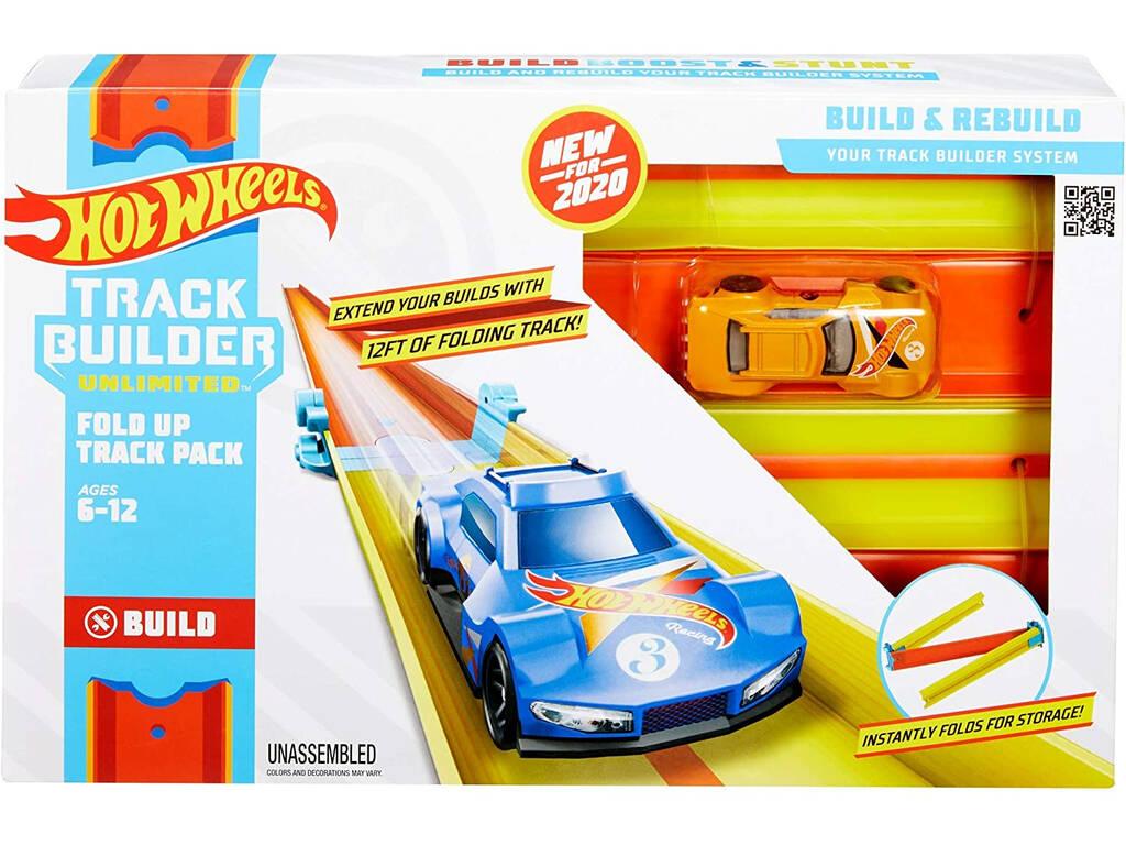 Hot Wheels Track Builder Unlimited Pack de Circuito Plegable Mattel GLC91
