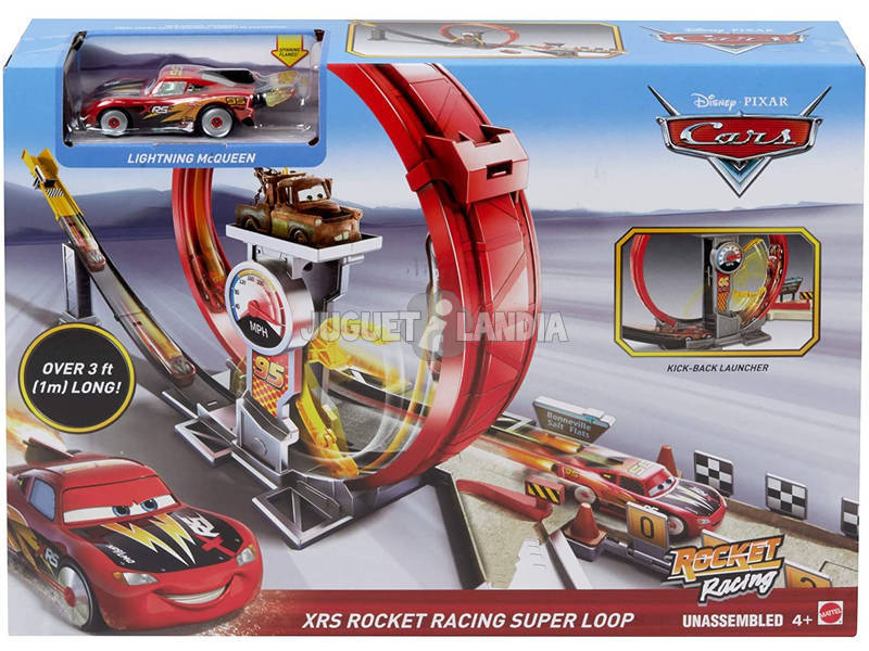 Cars Megalooping Rocket Racing XRS Mattel GJW44