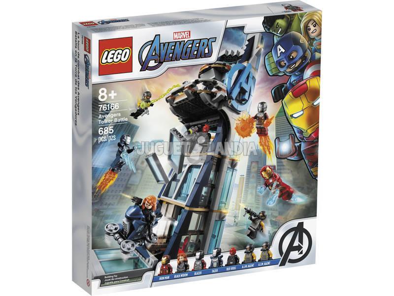 Lego Súper Héroes Batalla en la Torre de los Vengadores 76166